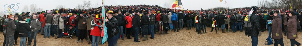 Panorama of 2012 World Cyclocross Championships in Koksijde