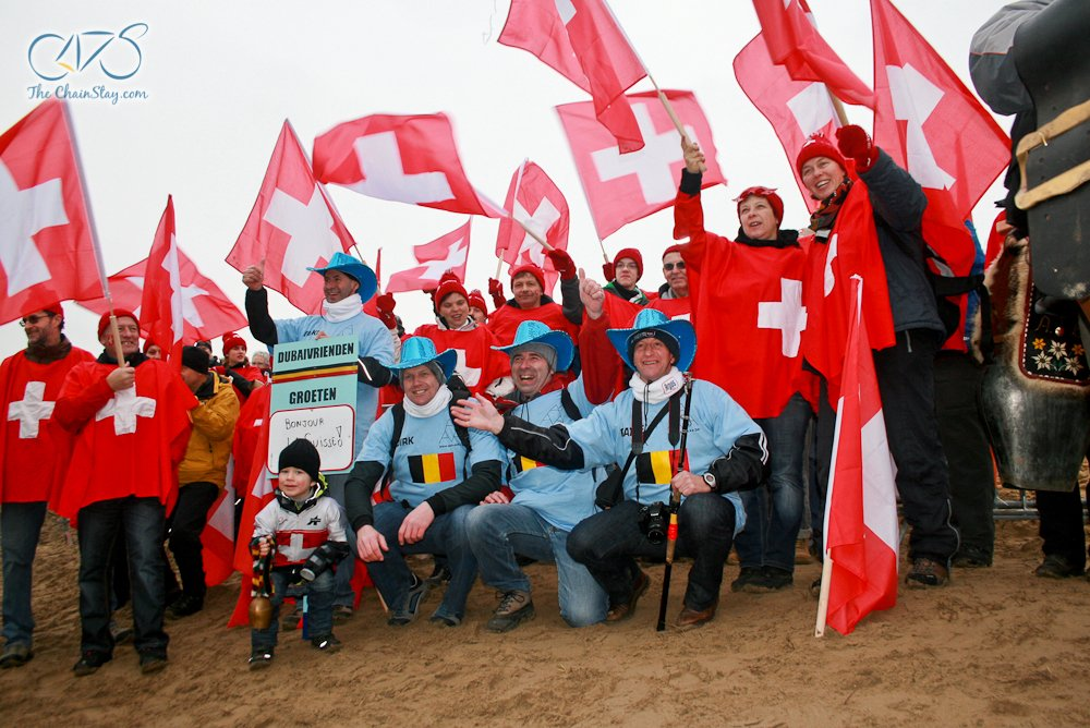2012 Cyclocross Worlds Koksijde - Swiss and Belgian Fans