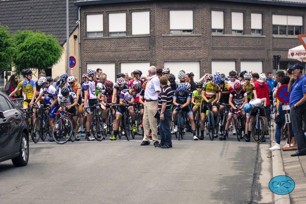Junior Development Camp in Belgium Meigem Kermis 2015 Start of the Race