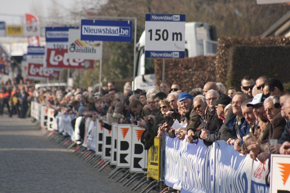 Nokere Koerse Cycling Fans watching the finish